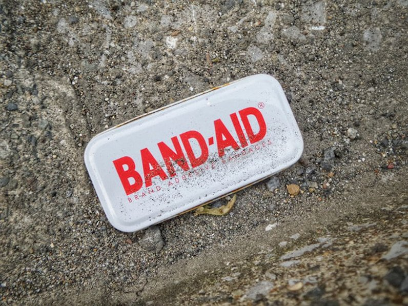 Band-Aid canister